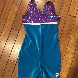 GK leotard, size M, velour. Like new